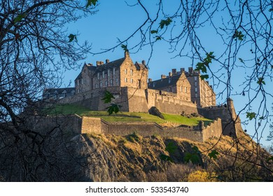 Edinburgh Castle in Autumn. Scotland, UK