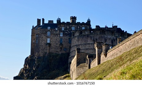 Edinburgh Castle, Edinburgh city centre,Scotland UK. February 2017
