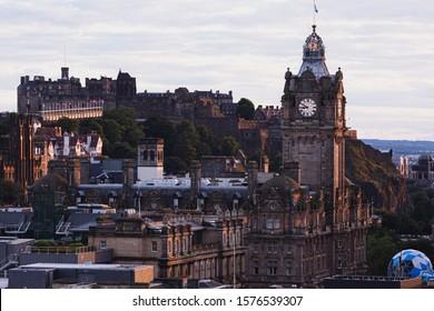 Edinburgh Castle and the City at Dusk