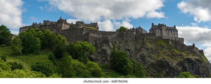 Edinburgh Castle cropped with dramatic sky