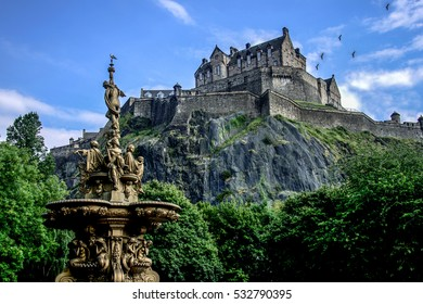 Edinburgh Castle during summer, Scotland.