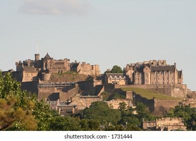 Edinburgh Castle, Evening sunset.