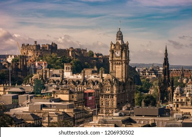 Edinburgh Castle fortress city cityscape Scotland UK