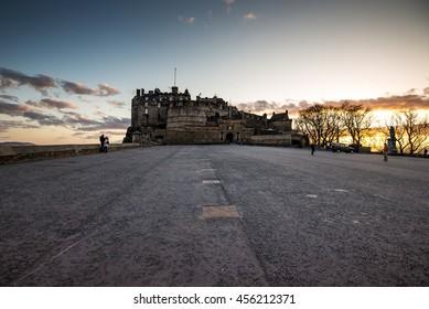 Edinburgh castle front view