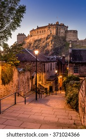 Edinburgh castle from Heriot place