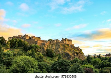 Edinburgh Castle is a historic fortress which dominates the skyline of the city of Edinburgh, Scotland