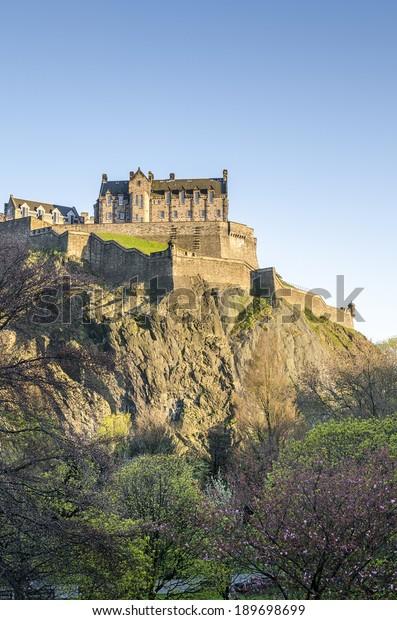 Edinburgh Castle on Castle Rock, Edinburgh, Scotland, The United Kingdom of Great Britain and Northern Ireland