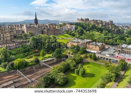 Edinburgh Castle Princes Street Gardens Seen Stock Photo (Edit Now ...