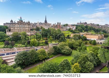 Edinburgh Castle Princes Street Gardens Edinburgh Stock Photo (Edit ...
