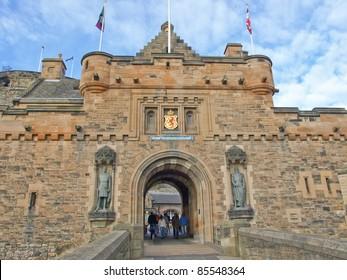 Edinburgh castle in Scotland, Great Britain, United Kingdom
