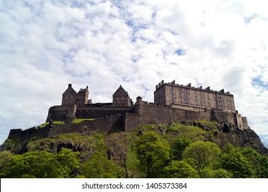 Edinburgh Castle seen from Castle Terrace