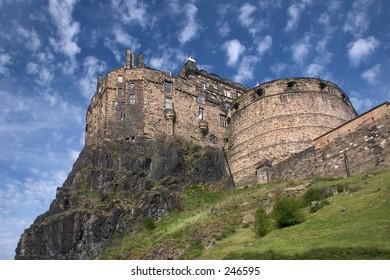 Edinburgh Castle with speckled sky