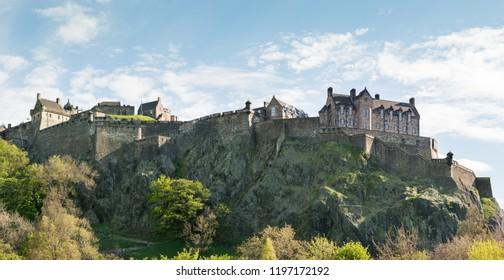 Edinburgh castle at spring high resolution