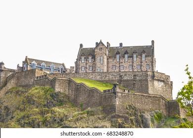Edinburgh Castle in Spring Season, Scotland