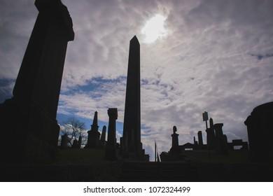 Edinburgh Cemetery Old Vintage Tombstones Edinburgh Graveyard Old Tombs
