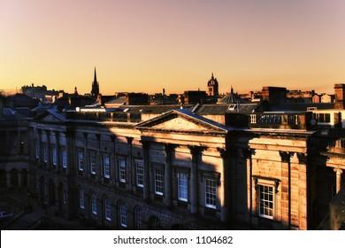 Edinburgh, city at dusk