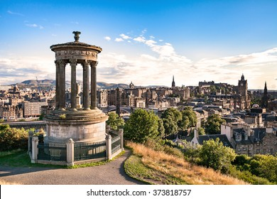 Edinburgh city view from Carlton hill, Scotland