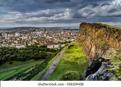 Edinburgh  Cityscape  , Scotland UK