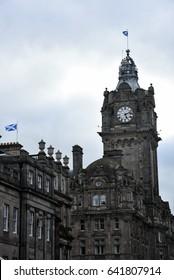Edinburgh clock tower , Scotland UK