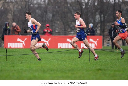 EDINBURGH - JANUARY 9: athletes compete in the Great Edinburgh Cross Country event on January 9, 2016 in Edinburgh, Scotland. Edinburgh hosts the athletics event annually in January.