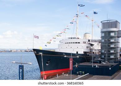 EDINBURGH - JUNE 14: HMY Britannia, royal yacht of Queen Elisabeth II. on June 14, 2013, in Edinburgh.