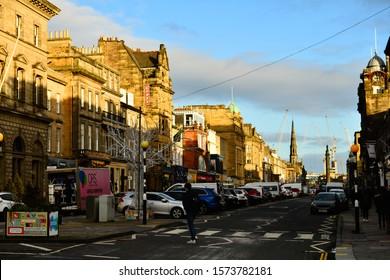 Edinburgh Lothian Scotland 11/28/2019 George Street in the city centre of  Edinburgh