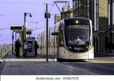 EDINBURGH - MAY 31, 2014: Trams Launch in Edinburgh