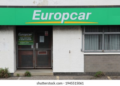 EDINBURGH, SCOTLAND - 29 March 2021 Branch of Europcar Vehicle Rental in Sighthill Closed Permanently