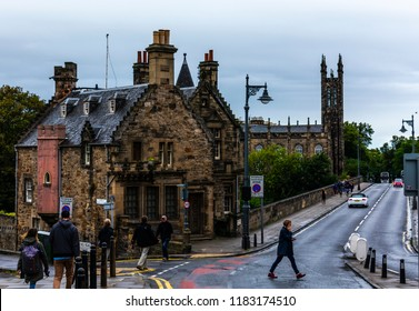 Edinburgh, Scotland - August 18 2018: Dean Village