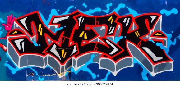 EDINBURGH, SCOTLAND - AUGUST 8, 2015: Street Art Graffiti by unknown artist.