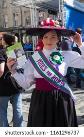 Edinburgh, Scotland, August 8.14.18. Edinburgh Fringe event explores & celebrates the suffrage movement which resulted in votes for women.