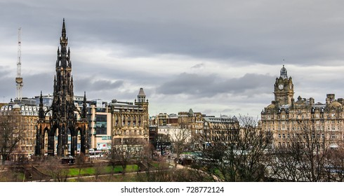 Edinburgh, Scotland, February 18, 2015: View of the city