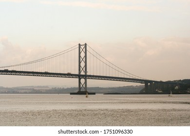 Edinburgh, Scotland. The Forth Road Bridge, a suspension bridge opened in 1964