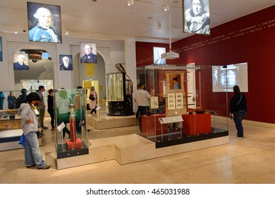 EDINBURGH, SCOTLAND - JULY 17, 2016: Asian area of the National Museum of Scotland. It was renovated in 2011