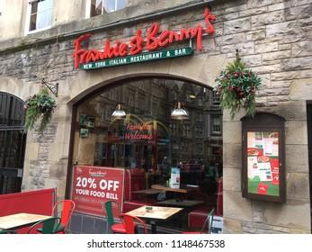 Edinburgh, Scotland, July 22, 2018: Frankie & Benny's Restaurant