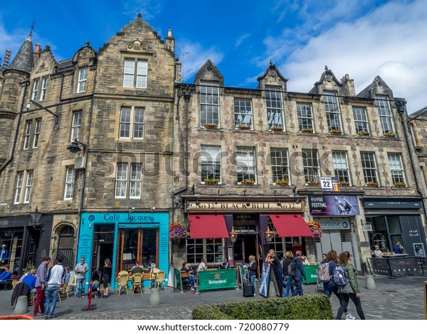 Edinburgh Scotland July 30 Buildings Shops Stock Photo Edit