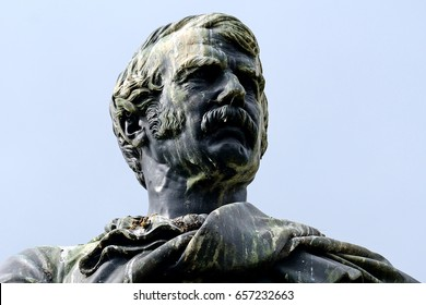 EDINBURGH, SCOTLAND - JUNE 1: Statue of David Livingstone in 1 June, 2017 at Edinburgh. David Livingstone was a Scottish explorer in Africa.