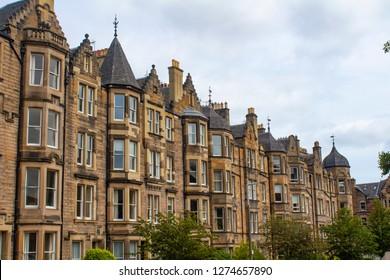 Edinburgh/ Scotland - June 23, 2018 : Edinburgh/Scotland House, Street