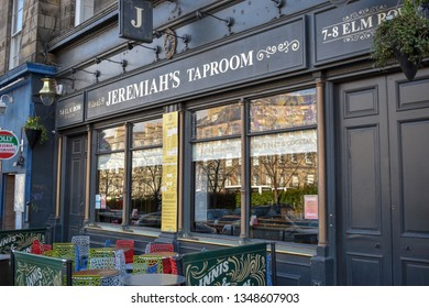 Edinburgh, Scotland - March 23rd 2019. Jermemiah's Taproom.