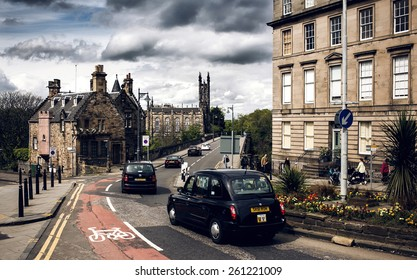 EDINBURGH, SCOTLAND - MAY 06, 2014: City view of Edinburgh. Edinburgh is the capital city and second most populous city in Scotland.