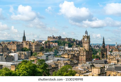 Edinburgh Scotland Skyline ,viewed from Calton Hill