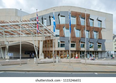 Edinburgh, Scotland UK - 07/29/2016: Scottish Parliament Building