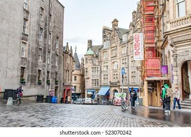 Edinburgh, Scotland, UK- july 18, 2016; Cockburn Street near The Royal Mile