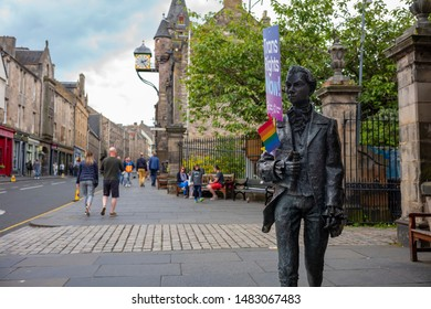Edinburgh, Scotland / UK - June 22, 2019 The 2019 Pride Scotia March, where participants paraded for LGBTQ (lesbian, gay, bisexual, transgender and queer or questioning) equality at the Royal Mile.