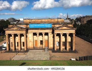 EDINBURGH, SEPT. 22:  The Scottish National Gallery is seen in Edinburgh, Scotland, Europe on September 22, 2016.