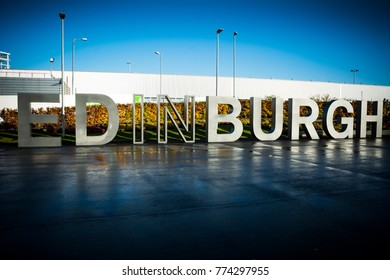 Edinburgh sign greeting visitors in the Scottish capital