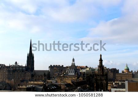 8899e69a8653 Edinburgh Skyline Scotland Stock Photo (Edit Now) 1050581288 ...
