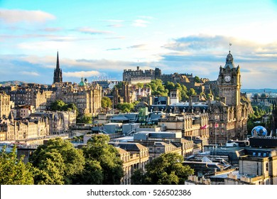 Edinburgh skyline as seen from Calton Hill, Scotland