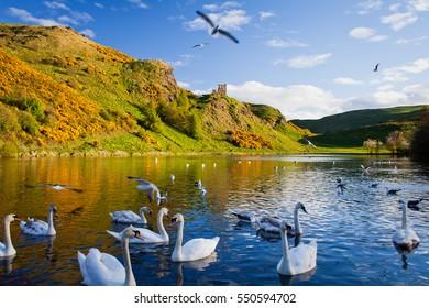 Edinburgh  -  spring travel destination in Scotland.