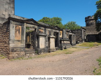 EDINBURGH, UK - CIRCA JUNE 2018: Old Calton burial ground